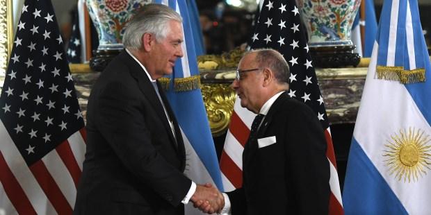 Tillerson en Argentina