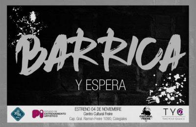 el domingo 4 de noviembre se estrena Barrica y espera